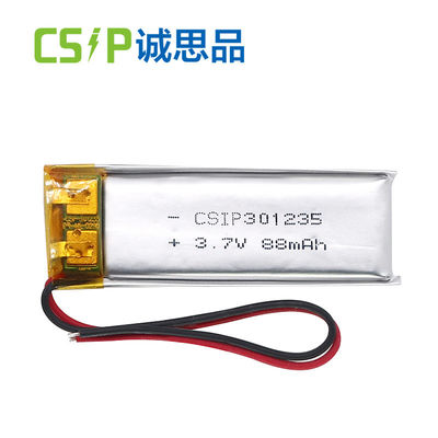 China Bateria do polímero do lítio de 3,7 volts, baterias polis 88mAh de Li do polímero do lítio fornecedor
